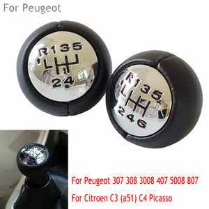 Manual Car Gear Shift Knob Lever HandBall 5 6 Speed For Peugeot 307 308 3008 407 Partner For Citroen C3 (a51)C4 Picasso