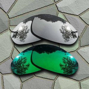 Chrome&Jade Green Sunglasses Polarized Replacement Lenses for Juliet