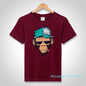 mens designer t shirts cool T-Shirts Cotton Plus Size 5XL Tees monkey print Short Sleeve Men T Shirts Male TShirts Camiseta Tshirt d06
