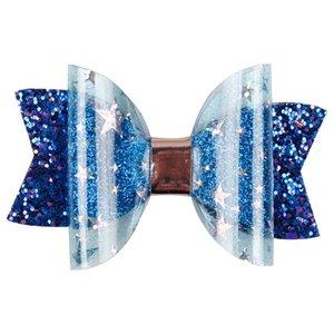 El yapımı Mini Sequins Litlle Kızlar Saç Yaylar Klipler Parlak Glitter Sevimli Tokalar Günlük Okul Tokalarım Şapkalar Accessoires