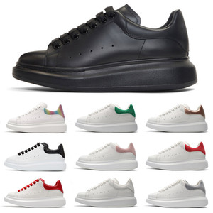 2019 Tasarımcı 3M Yansıtıcı beyaz deri rahat ayakkabılar kız kadın erkekler siyah altın kırmızı Python moda rahat düz ayakkabılar boyutu 35-44