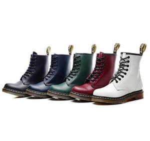 أزياء الشتاء الجلود الفاخرة للجنسين أحذية عالية أعلى 1460 عارضة أحذية رجالية مصمم الكاحل الدكتور دراجة نارية أحذية زائد الحجم