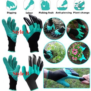 Garden Digging Gloves With Claws On One Hand Waterproof For Gardening Planting