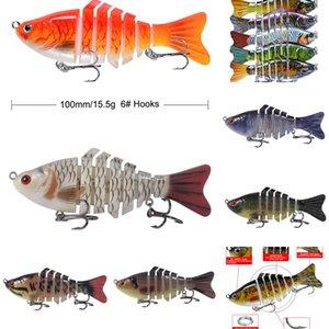 L6TCi # 5555 bionische weich leuchtende Garnele Luya Fischerei baitset leuchtenden Köder gefälschte Blackfish Köder Tintenfisch