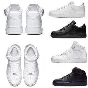 Laufschuhe Klassik Alles Weiß Schwarz Grau Low High Cut Damen Herren Sport Sneakers Ein Skate-Schuhe US 5,5-12