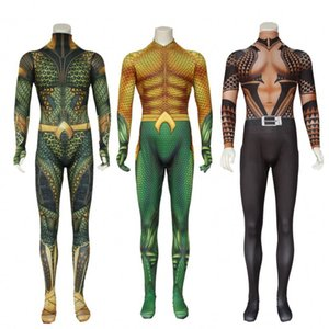 Aquaman Body Arthur Curry Jumpsuit Film Américain COS Costumes DC Anime Super Héros Orin Uniforme Cosplay Justice League Thème Costume