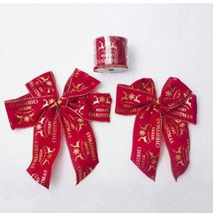 2018 Nova 8.8FT Feliz Natal cervos Impresso fita decorativa para Xmas Tree Ornaments Gift Packing Embrulhar Festival Party Decor