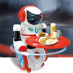 Управление роботы Модель Игрушка Интеллектуального Sound Sensing Robot Food Delivery Electric Речевой Для детей Детских образовательных подарков