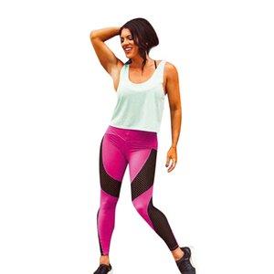 Feitong Women Leggings Casual Patchwork Fitness High Waist Leggings Women Pant Big Stretch Legging Female Fashion leggins mujer