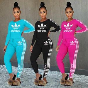 Women Designer Brand Fall Winter 2 Piece Set Hoodies+Pants Sports Suit Crew Neck Sportswear Pullover+Leggings Tracksuit Letter Suit 3451