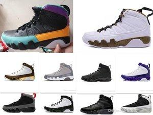 Дешевые 9 Антрацит черный Медь Статуя Baron Charcoal Джонни Kilroy синий Мужская баскетбольная обувь 9S IX Кроссовки 7-13