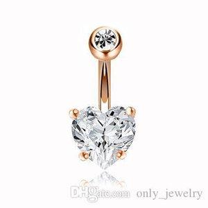 Luxus-Diamant-Liebes-Navels High Grade Bling Bling Edelstein-Bell-Knopf-Ring-Herz-Designer Navels für Frauen Neue Ankunfts