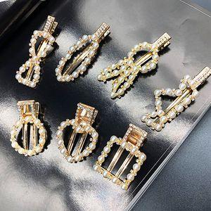 Женщины Bowknot Crown Heart Clip Clip MultiStyle Pearl Rhinestone Barrettes Мода Аксессуары для волос Оптовая Epacket Доставка