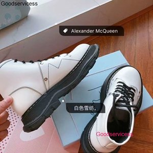 2020 Fall Winter New Women S Knight Boots Flats Full Grain Leather Short Martin Booties Snow Shoes wan1