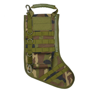 Tactical Molle Christmas Stocking Bag Dump Drop Pouch Utility Storage Bag Combat Hunting Christmas Socks Paquete de regalo # 10