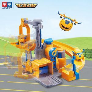 Presentes AULDEY Super Asas Donnie Fix It Delegacia Garagem Paul Playset Unissex Brinquedos Educativos Natal crianças