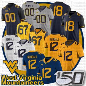 NCAA Batı Virginia Austin Kendall Mountainers Jersey Sam James Leddie Brown T.J. Simmons George Campbell WVU Futbol Forması