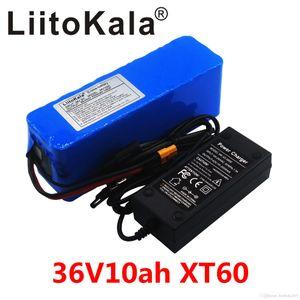 LiitoKala 36V 10AH batería eléctrica de la bici construido en el BMS 20A batería de litio Paquete de 36 voltios con el cargador 2A E-bici enchufe de la batería XT60