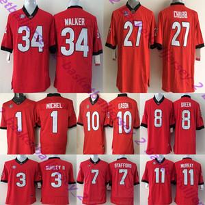 Georgia Bulldogs Erkekler Forması 10 EASON 16 SMART 27 CHUBB 8 YEŞIL 11 MURRAY 3 GURLEY II 34 WALER 7 PERSONEL Kolej Formaları