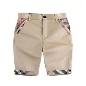 Moda infantil Shorts Casual Verão respirável do bebê calças de algodão para meninos moda xadrez Printed Boy Shorts Roupas de bebê