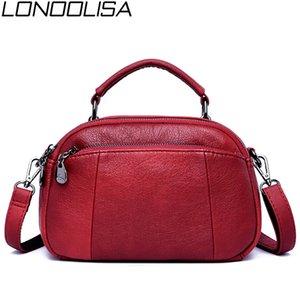 LONOOLISA 2019 neue Frauen Handtaschen-beiläufige weiche PU-Leder weibliche Schulter Messenger Bag Qualitäts-bewegliche Sh