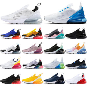 Nike air max 270 Neueste Gute Qualität Lager x Unisex Laufschuhe OG 27c reagieren Hot punch Triple Black Outdoor-Breathable Sport-Turnschuh-Trainer US5.5-11