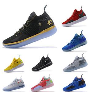 2019 KD 11 EP Beyaz Turuncu Köpük Pembe Paranoyak Oreo BUZ Erkek Basketbol Ayakkabıları Kevin Durant XI KD11 Spor Sneakers Boyutu 40-46