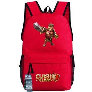 빨간 배낭 야만인 왕의 하루 팩 컬러 사진 게임 학교 가방 좋은 packsack 인쇄 배낭 스포츠 schoolbag 옥외 daypack