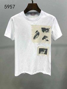 2019 Luxury shirt dos homens T Casual T T-shirt Moda Harajuku dos homens camisa de manga curta Impresso Bordado Decal