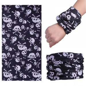 Summer Ice Silk Triangular Skull Scarf Sunscreen Mask For Men And Women Riding Magic Skull Scarf Windproof Multi-Functional Necklace Outd#874