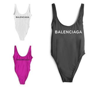 2018 Moda Swimwear Biquíni para Mulheres Maiô Beachwear Verão one piece Sexy Lady Swimsuit Preto Branco
