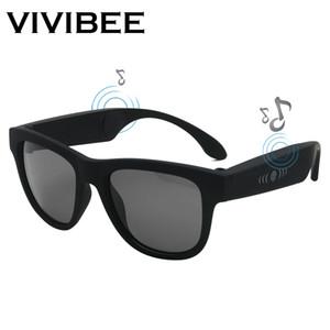 VIVIBEE 2019 Chegada Nova Bluetooth Música Óculos de sol na moda Wireless Audio Som G1 Polaroid Praça Homens Shades