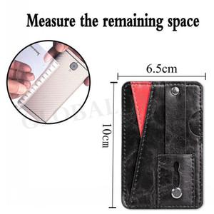 Universal 3M Sticker Zurück Phone Card Slot Leather Pocket Wallet Cash ID Kredit Halter für Mobiltelefon-Kasten iPhone X XS MAX XR 7 8 huawei