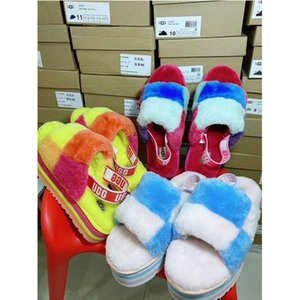 2020 kids men women furry slippers australia fluff yeah mulitcolor slide designer
