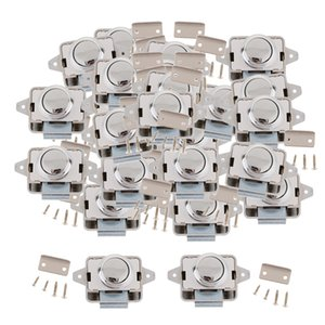 25x Heavy-duty Push Button Lock RV Boat Drawer Cupboard Home Cabinet Sliver