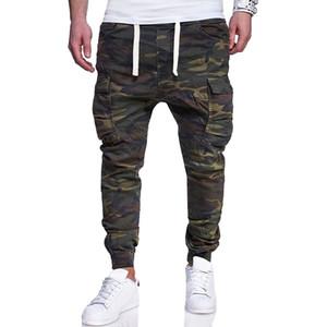 Mens Designer de Lápis de Camuflagem Jeans Moda Skinny Grandes Bolsos Listrado Com Zíper Projeto Magro Calças de Jean 1603-7440