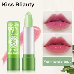 키스 아름다움 온도 색상 변경 립스틱 알로에 베라 보습 립스틱 패션 오래 지속되는 립스틱 밤 12 개