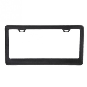 Universal Carbon Fiber Sun Water Weather Proof Car License Plate Frame