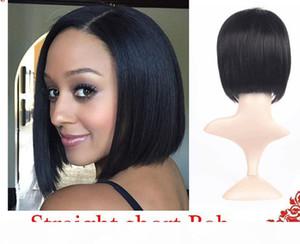 Pelucas para las mujeres negras Pixie cortan pelucas de pelo corto para las mujeres negras humanos bob pelucas delanteras del cordón lleno con el pelo del bebé para los africanos