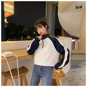 Wholesale Girl Women Hoodie Women Sweatshirt Women Jumper Young Beautiful Short Sport Style B100756Z