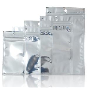 Zip lock folha de alumínio sacos de plástico claro Resealable Mylar Zipper Pacotes Bolsa Para Mobile Phone Caso cabo da bateria Qualquer coisa Retail Packing