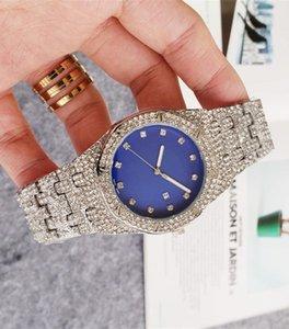 diamond watch relogio clock 42mm high quality automatic date luxury fashion men and women steel belt sports quartz clock men's watch