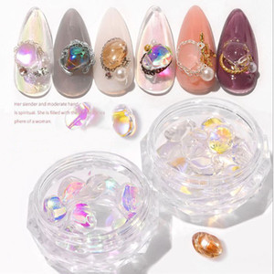 1 box Shiny Crystal Stones 3D Nail Art Decorations Jewelry DIY Fashion Ornaments Manicure Design Accessories