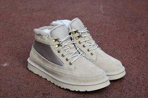 2020 новый Хайленд поле Загрузочного Верхнего качество шерсти сапоги замшевых зимние сапоги новая мужские ремни серии классических сапог случайной теплая мини загрузочная обувь