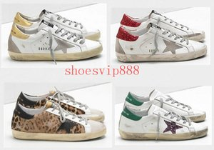 Moda Old Style Sneakers Genuine Leather Villous Derma pattini casuali degli uomini / donne di lusso Superstar Trainer Size 35-45 A32