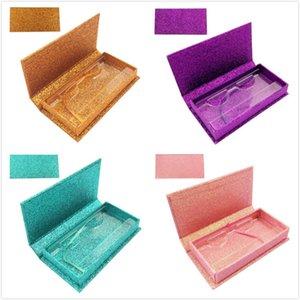 Professional custom logo Rectangle false eyelash packing box fine mounted eyelash gift box 3D mink eyelashes packaging boxes