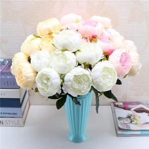 7 heads bunch Artificial Peony Flowers for Wedding Bouquet Fake Flower for Home Garden Party Decoration DIY Bride Wreath Garland
