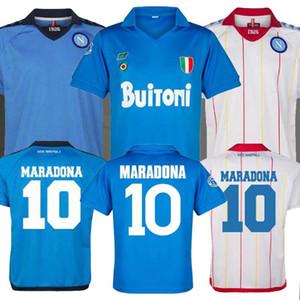 87 88 calcio Jersey Retro napoli camicie classiche Maradona 1987 1988 Napoles maglie Giordan MAGICA 1926 Napoli Retro maglia da calcio