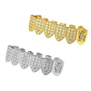 Крутые украшения для тела рэпера дешевые хип хоп золото и серебро Иисус верхние нижние зубы Грили Grillz оптом