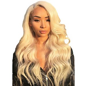 Synthetic Lace Front Wig Long Body Wavy Blonde Wigs for Women Natural Hairline Blonde Cosplay Party Wigs Glueless Heat Resistant Fiber Hair